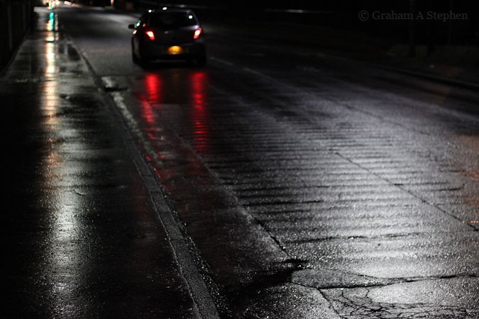 Wet Road at Night II