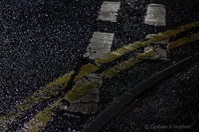 Wet Road at Night III