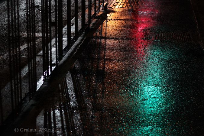 Wet Road at Night V