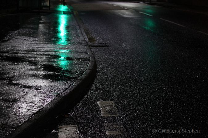 Wet Road at Night VI
