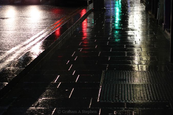 Wet Road at Night VII